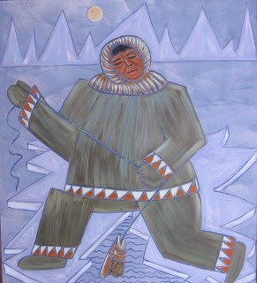 Pêcheur sur glace