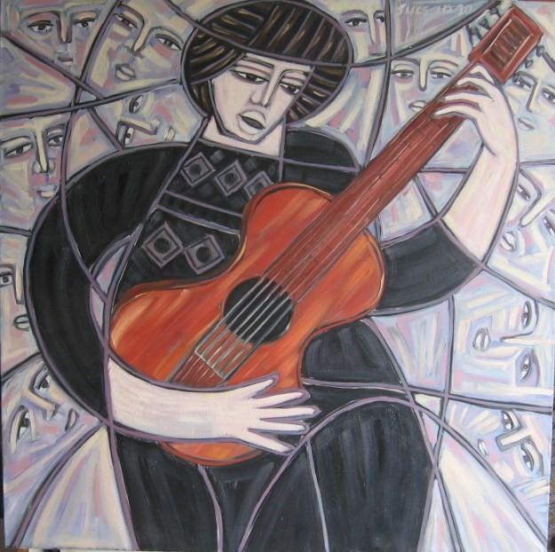 Guitariste en spectacle